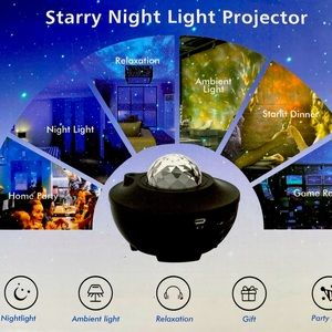 🌟NEW IN BOX STARRY NIGHT LIGHT & MUSIC PROJECTOR